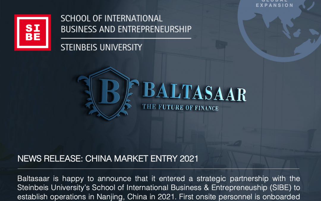 Baltasaar Market Entry in China 2021: We cooperate with SIBE – Steinbeis School of International Business and Entrepreneurship