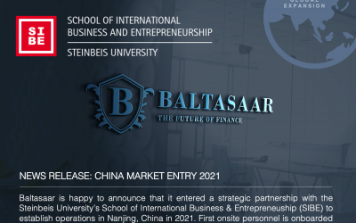 Baltasaar Markteintritt in China 2021: Kooperation mit SIBE – Steinbeis School of International Business and Entrepreneurship